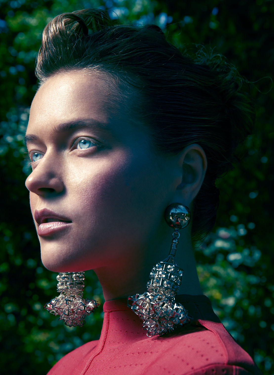 Fashion Portrait - Closeup - Earrings